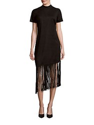 Alexia Admor Fringe Suede Dress Black