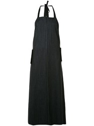 Josh Goot Tailored Apron Dress Blue