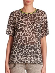 Marc Jacobs Leopard Printed Tee Black Multi