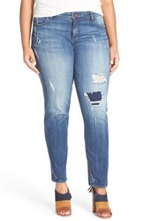 Plus Size Women's Kut From The Kloth Distressed Slouchy Boyfriend Jeans Marvel