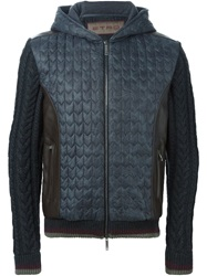 Etro Cable Knit Panelled Jacket Grey
