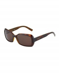 Gucci Modified Havana Plastic Sunglasses Chocolate
