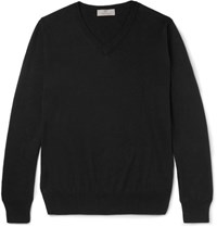 Canali Stretch Cotton Sweater Black