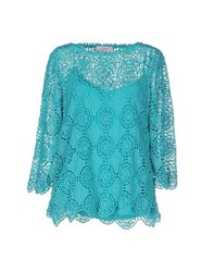 Clips More Shirts Blouses Women Turquoise