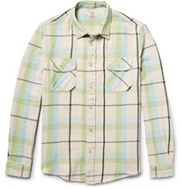 Levi's Vintage Clothing Shorthorn Slim Fit Checked Cotton Flannel Shirt Mint