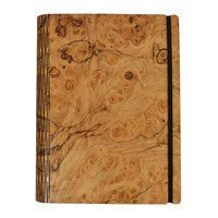 Bark And Rock Pepperwood Burr Wooden Notebook Pocket 15.5X19cm