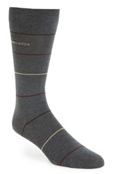 Boss Men's 'Rs Design' Mercerized Cotton Blend Socks Medium Grey