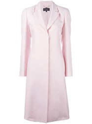 Salvatore Ferragamo Long Concealed Fastening Coat Pink Purple