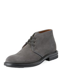 Aquatalia By Marvin K Raphael Suede Lace Up Boot Dark Gray