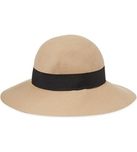 Reiss Andrea Wool Floppy Hat Tan