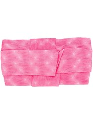 Missoni Mare Embroidered Wrap Hairband Pink
