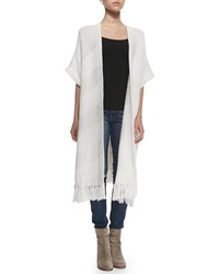 Elizabeth And James Maverick Short Sleeve Long Cardigan
