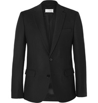 Maison Martin Margiela Black Slim Fit Wool Flannel Blazer