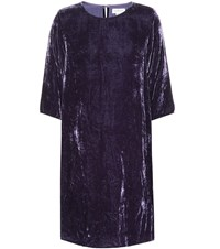 Velvet Prunella Dress Purple