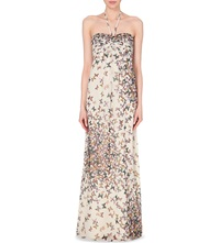 Ted Baker Calipso Butterfly Print Maxi Dress Cream