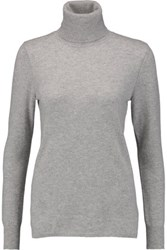 Magaschoni Ribbed Cashmere Turtleneck Sweater Stone