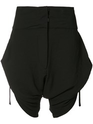 Barbara I Gongini Side Tie Shorts Women Polyimide 38 Black