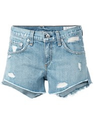 Rag And Bone Jean Denim Shorts Blue