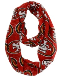 Forever Collectibles San Francisco 49Ers All Over Logo Infinity Scarf Red