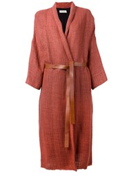 Masscob Shawl Lapel Cardi Coat Yellow Orange