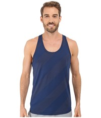 2Xist Trainer Tech Dot Print Racerback Tank Top Estate Blue Combo Men's Sleeveless