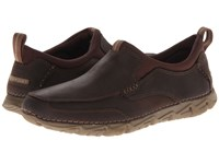 Rockport Rocsports Lite 2 Moc Slip On Chocolate Men's Slip On Shoes Brown
