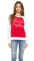 Wildfox Couture Love Is Everything Pullover Holiday Clean White