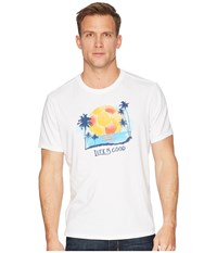 Life Is Good Soccer Palm Trees Smooth Tee Cloud White T Shirt