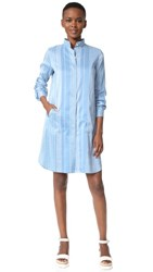 Zero Maria Cornejo Forward Shirtdress Cornflower Chalk