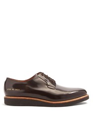 Common Projects Raised Sole Lace Up Leather Derby Shoes Brown