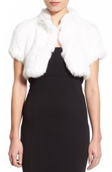 Women's Jocelyn Knit Rabbit Fur Shrug
