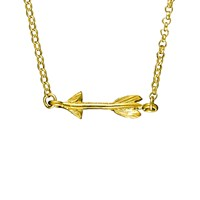 Chupi Follow Your Dreams Arrow Necklace In Gold