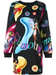 Jeremy Scott Printed Sweatshirt Dress Black