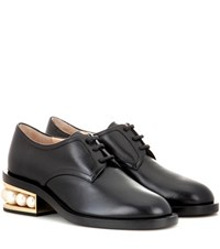 Nicholas Kirkwood Casati Embellished Leather Derby Shoes Black