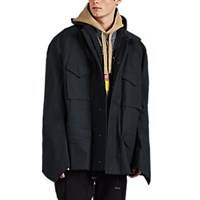 Vetements M65 Cotton Twill Parka Black
