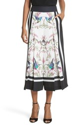 Ted Baker London High Grove Wide Leg Culottes White