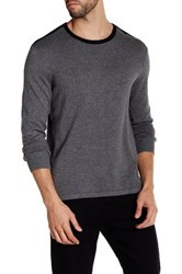 Kenneth Cole Contrast Trim Sweater Gray