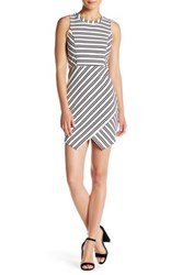 Jack Dominick Striped Sheath Dress White