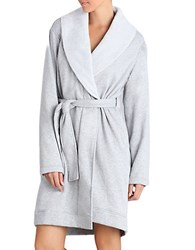 Ugg Shawl Collar Robe Silver Heather