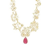 Judy Geib Frilly Frou Frou Necklace Pink