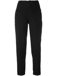 Transit High Waisted Trousers Black