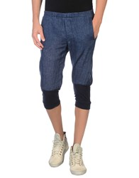 Daniele Alessandrini Homme Trousers 3 4 Length Trousers Men Blue