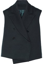 Helmut Lang Double Faced Cotton And Wool Blend Twill Vest