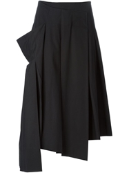 Marc By Marc Jacobs Oversized Pocket Asymmetric Pleated Skirt