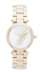 Marc Jacobs Dotty Lightning Bolt Watch Gold Silver Clear