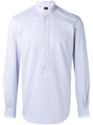 Massimo Piombo Mp Mandarin Collar Shirt Men Cotton Polyester 41 White