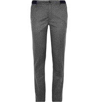 Kolor Slim Fit Brushed Wool And Cashmere Blend Trousers Gray