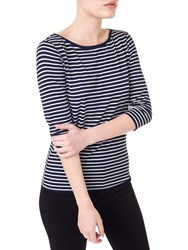 Precis Petite 3 4 Sleeve Stripe Top Navy White