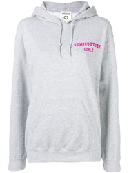 Semicouture Loose Fitted Hoodie Grey
