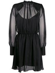 Federica Tosi Sheer Layer Dress Black